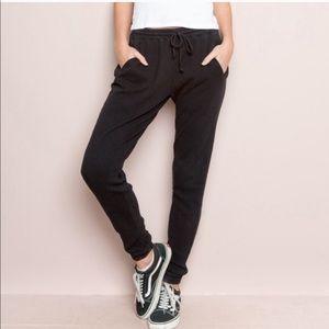 Brandy Melville Rosa Thermal Sweatpants Black